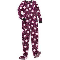 Hello Kitty Women's Character Fleece Footed Pajamas