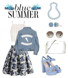 Blue Summer by anjelicadeweese on Polyvore featuring polyvore, fashion, style, Topshop, Understated Leather, Chicwish, Michael Kors, Bling Jewelry, Prada and clothing