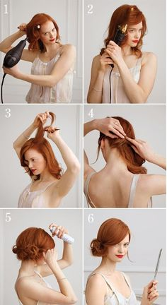 The side chignon is super cute, and super do-able with this step-by-step guide