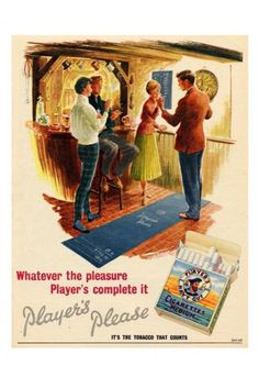 Players Cigarettes 1950s Pub Darts Print - Vintage Advertising Posters - Retro Posters iPosters £7.99