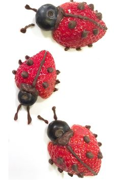 Fruit Ladybugs Ditch the fruit cup and make this fruity treat in less than five minutes.