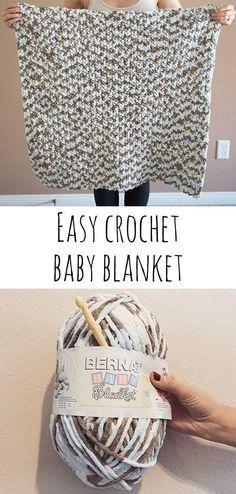 Easy crochet baby blanket #crochetbaby
