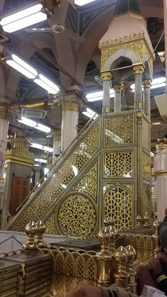 "DesertRose,,,Rasullullah Minbar @ Masjid al-Nabawi @ Madina al-Munawwarah ""Masjid of the Prophet Muhammad ﷺ"" Masjid Al Nabawi, Masjid Al Haram, Mosque Architecture, Art And Architecture, Islamic World, Islamic Art, Mekkah, Les Religions, Beautiful Mosques"