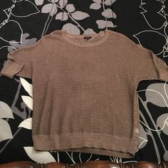 Brown/Gold Sweater Never worn. New without tags. Brown with gold sparkles. Didn't like the way it fit me. Apt. 9 Sweaters Crew & Scoop Necks