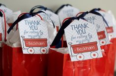 Project Nursery - Red Wagon 1st Birthday Party Goody Bags