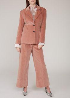 Larkin Jane blazer - dust pink velveteen on Garmentory Retro Shirts, Piece Of Clothing, Women Brands, Blazers For Women, Dusty Pink, Fashion Boutique, Knitwear, Ready To Wear, Copenhagen Denmark