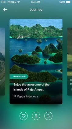 Travel journey app for iOS. #UI #UserInterface #Design