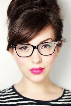 16. #Glasses - 25 Tips to Make Your Eyes Stand out ... → #Makeup #Little