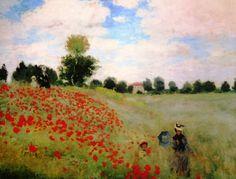 Poppy Field by Claude Monet | © Pixabay
