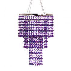 3 Tier Gemstone Crystal Chandelier - Purple KoyalWholesale.com