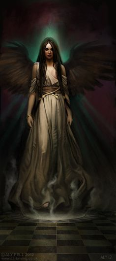 Persephone is the Greek Goddess of the underworld. She was the wife of Hades and the daughter of the springtime goddess, Demeter. Fantasy World, Dark Fantasy, Fantasy Art, Fantasy Creatures, Mythical Creatures, Art Zombie, Ange Demon, Hades And Persephone, Angels And Demons