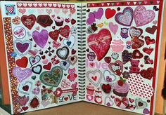 Valentine's Day Smash Book Doodle Art Journals, Art Journal Pages, Journal Entries, Art Journaling, Bullet Journal Mood, Bullet Journal Themes, Art Journal Inspiration, Journal Ideas, Junk Journal