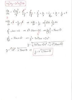Solución del ejercicio 5 de ecuaciones diferenciales homogéneas