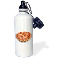 3dRose Pizza, Sports Water Bottle, 21oz