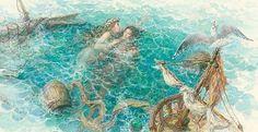 """Illustrator Anton Lomaev. """"The little mermaid"""""""