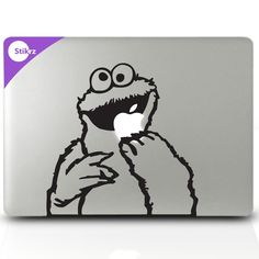 Buy ANY 2 and get 1 FREE - Cookie Monster - Removable apple laptop computer decal stickers Geekery. $9,98, via Etsy.