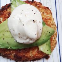 cauliflower bread- good with avocado and olive oil on top.