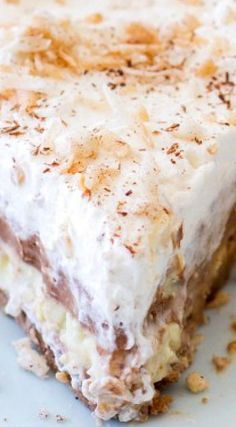 ( No-Bake ) Chocolate Coconut Cream Pie