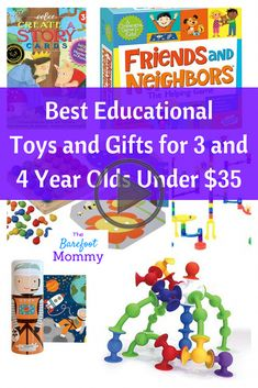 Best Educational Toys and Gifts for Three and Four Year Olds for Families on a Budget - The Barefoot Mommy - Educational gifts for 3 year olds Educational Christmas Gifts, Educational Toys For Kids, Learning Toys, Gifts For 3 Year Old Girls, Birthday Gifts For Girls, Kids Gifts, 4th Birthday, 4 Year Old Toys, Best Toddler Books