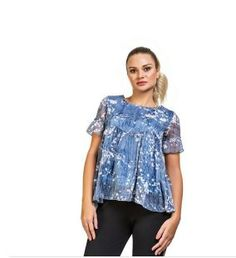 Find Wide collection of women dresses in Ajman and all over the UAE. Buy now Round Neck Loose Floral Dress Online from our store and get discounts. Online Shopping Uae, Store Online, Dresses Online, Dubai, Floral Tops, Retail, Clothing, Stuff To Buy, Shirts