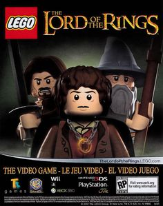 Lego Lord Of the Rings Video Game Poster