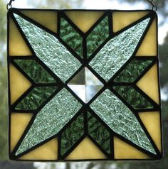 Stained glass quilt square - would make a great box lid!