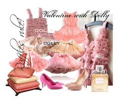 Sweet Valentine mix with dolly Mix N Match, Tulle, Celebrities, Creative, Polyvore, Skirts, Pink, Sweet, Fashion