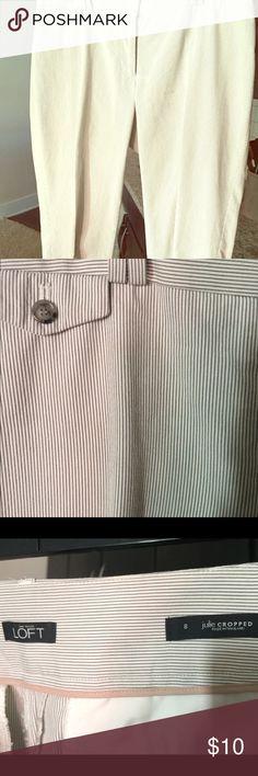 Loft Seersucker Print Cropped Pants, Size 8 Loft Seersucker Print Cropped Pants, Size 8. Julie Cropped. LOFT Pants Ankle & Cropped