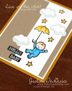 www.thewaywestamp.com Moon Baby by Stampin' Up! for Global Design Project 070 #GDP070 #moonbaby #stampinup #diycards #diycrafts #babyshower #juliedeguia #thewaywestamp