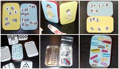 DIY Mini Activity and Games Tin From Altoids Tin- Reading, Math, Paper Dolls, Board Games, and More!