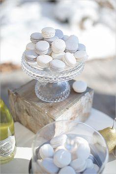 White and silver macarons www.MadamPaloozaEmporium.com www.facebook.com/MadamPalooza