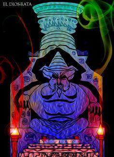 El dios-rata, uno de los muchos dioses abyectos y sanguinarios que exigen sacrificios humanos.  The god-rat, one of the more heinous and bloodthrirsty god demand human sacrifices