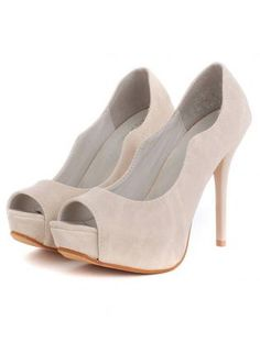 Peep Toe Stiletto Heels with Curved Side Detail,  Shoes, court shoes  open toe heel, Chic