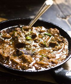 Balti Gosht Recipe, Pakistani Balti Mutton recipe is a delicious mutton preparation that is served in a wok that is called as balti. Read Recipe by Lamb Recipes, Veg Recipes, Spicy Recipes, Curry Recipes, Indian Food Recipes, Asian Recipes, Cooking Recipes, Ethnic Recipes, Indian Mutton Recipes