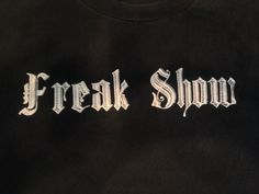 Freak Show Black White T Shirt Tee EUC Cotton X-Large 100% Cotton Taboo Brand #Taboo #GraphicTee #Freakshow  #Urbanstreetwear
