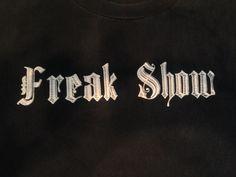 Freak Show Black White T Shirt Tee EUC Cotton X-Large 100% Cotton Taboo Brand #Taboo #GraphicTee #Freakshow  #Urbanstreetwear
