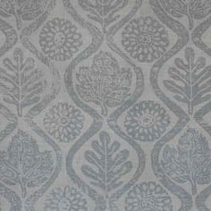 Oakleaves, French Grey/Natural by Peggy Angus