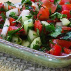 Recipe for Middle Eastern Tomato Salad (Salad Shirazi)