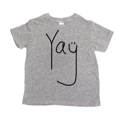 Yay Toddler   Baby T Shirt - Eco Triblend  (black/heather grey)