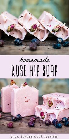 Learn how to make homemade rose hip soap! This natural herbal soap is great . rose soap how to make homemade rose hip soap! This natural herbal soap is great .Tenisha how to make recipes Learn how to make h Handmade Soap Recipes, Soap Making Recipes, Handmade Soaps, Diy Soaps, How To Make Homemade, Homemade Gifts, Homemade Recipe, How To Make Soap, Homemade Bar