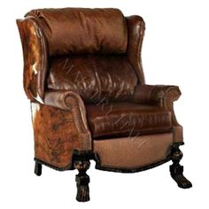 Cattleman Vintage Distressed Leather Club Chair Recliner