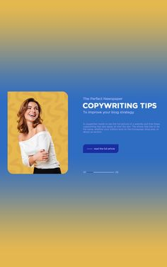 Every article starts with a blank page. You want to fill it with appealing and interesting content to deliver valuable information. This way, your visitors will always return to find more entertaining content on your website. But how would you start writing an article? With the basics, of course. Discover the must-have copywriting tips! #WordPress #blogging #blog #content #contentmarketing #copywriting #copywritingtips #software #webdesign #WordPresstheme #personalblog Start Writing, Copywriting, Content Marketing, Wordpress Theme, Newspaper, Effort, Improve Yourself, Blogging, Fill