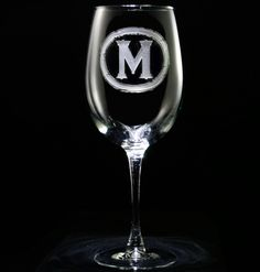 Personalized glasses. Engraved barware at Crystal Imagery.