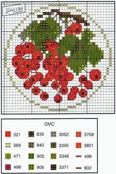 Cross Stitch Fruit, Cross Stitch Kitchen, Just Cross Stitch, Cross Stitch Bookmarks, Beaded Cross Stitch, Cross Stitch Flowers, Cross Stitch Charts, Cross Stitch Designs, Cross Stitch Embroidery