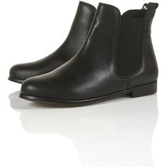 TOPSHOP ABE2 Ultimate Chelsea Boots ($130) ❤ liked on Polyvore featuring shoes, boots, topshop, scarpe, black, leather chelsea boots, black chelsea boots, topshop shoes and real leather boots