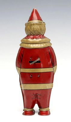 An alternate depiction of Santa Claus with conical hat and low hanging one-piece suit. on Sep 2019 Santa Suits, Tin, Auction, Christmas, Decor, Xmas, Decoration, Pewter, Weihnachten