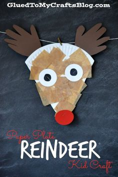 Paper Plate #Reindeer Kid #Craft
