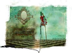 Aquaréelle et le MIXED MEDIA par Sandra Fantino