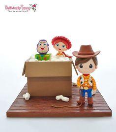 Edible Art, Baby Woody, Buzz & Jessie, Toy Story Cake.