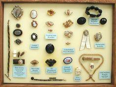 Civil War Jewelry Found   Modern display of Civil War jewelry